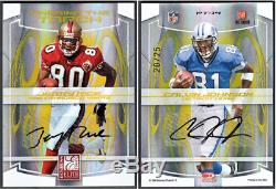 Jerry Rice + Calvin Johnson 2008 Elite Passing The Torch Dual Auto /25 Awesome