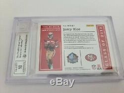 Jerry Rice Panini Encased HOF Material Sigs DIAMOND 1 of 1! 10 Auto 10/10