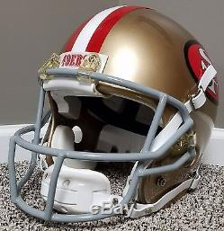 Jerry Rice SUPER BOWL Game Issued Style Autographed AUTHENTIC Helmet NFL 49ers
