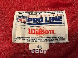 Jerry Rice San Francisco 49ers 1995 Wilson Pro Cut Game Jersey 46 Signed NFL