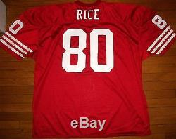 Jerry Rice San Francisco 49ers AUTHENTIC Ripon Athletic jersey USA Size 56 / 3XL