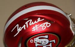 Jerry Rice Signed Auto San Francisco 49ers Blaze Mini Helmet Bas Witness #l06708
