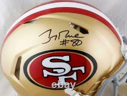 Jerry Rice Signed San Francisco 49ers F/S Speed Authentic Helmet- Beckett W Auth