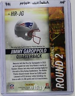 Jimmy Garoppolo 2014 14 Score Hot Rookies Silver Autograph Rc #d/99 Refractor $