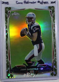 Jimmy Garoppolo 2014 14 Topps Chrome Camo Refractor #150 Serial #/499 Rc Rookie