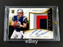 Jimmy Garoppolo 2014 Immaculate Auto 4-color Premium Patch Rookie Rc /49 NFL