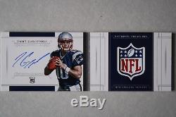 Jimmy Garoppolo 2014 National Treasures Jumbo RC Signatures NFL Shield Auto 1/1