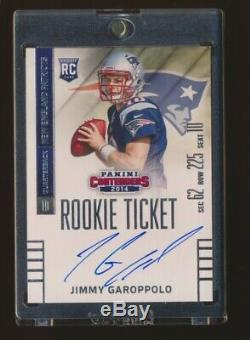Jimmy Garoppolo 2014 Panini Contenders Rookie Ticket Autograph Auto Rc 49ers