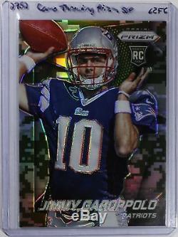 Jimmy Garoppolo 2014 Prizm Camo Throwing Ssp #243 Refractor Rc Rookie Super Rare