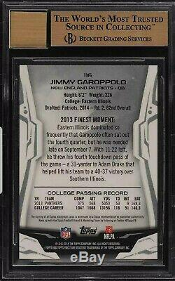Jimmy Garoppolo 2014 Topps Finest Rookie Auto 1/1 #1 Superfractor Made 9.5/10