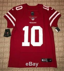 Jimmy Garoppolo 49ers NIKE Vapor Untouchable Authentic Elite Game Jersey 40