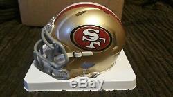 Jimmy Garoppolo Autographed San Francisco 49ers Mini Helmet Steiner Tri-Star