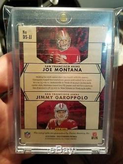 Jimmy Garoppolo Joe Montana 2018 Gold Standard Dual Auto Ssp #d /5 Sf 49ers