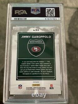 Jimmy Garoppolo PSA 10 Downtown Card 49ers Donruss Optic INSERT CASE HIT! RARE