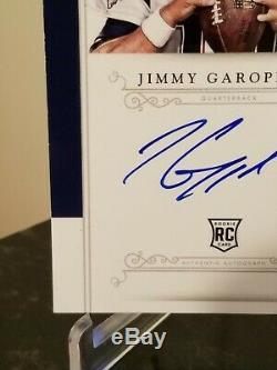 Jimmy Garoppolo Rc Auto Jumbo Rpa 2014 National Treasures Sp #/99 Lowest $ Mint+