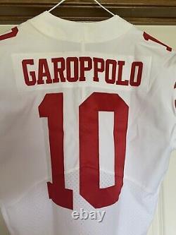 Jimmy Garoppolo San Francisco 49ers Game Team Issued SB LIV Jersey sz 44