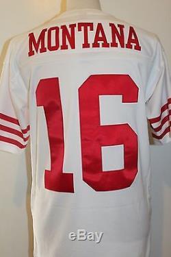223915c1f Joe Montana  16 San Francisco 49ers Throwback Mitchell   Ness Jersey White
