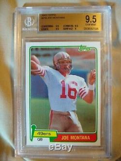 Joe Montana 1981 Topps #216 RC HOF BGS 9.5 Gem Mint