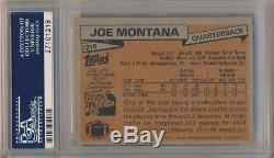 Joe Montana 1981 Topps #216 Rc Rookie Card San Francisco 49ers Psa 9 Mint B