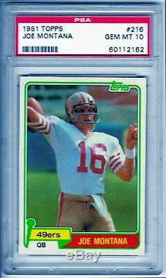 Joe Montana 1981 Topps RC Rookie PSA 10 GEM MINT HOF 49ers