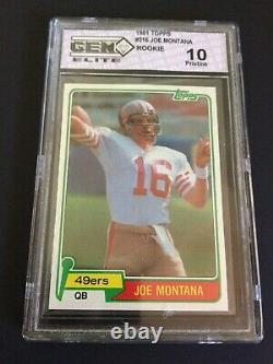Joe Montana 1981 Topps Rookie #216 Graded Gem Elite Pristine 10