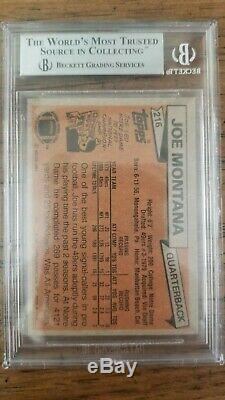 Joe Montana 1981 Topps Rookie Card #216 BGS 9