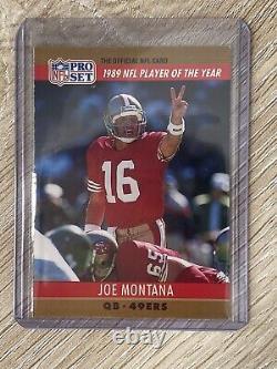 Joe Montana 1990 Pro Set Printing Error Card #2 Rare Football Card