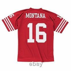 Joe Montana 1990 San Francisco 49ers Mitchell & Ness Home Red Legacy Jersey Men