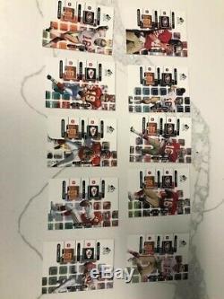 Joe Montana 1999 Upper Deck SP Signature Series Auto and 10 card set 49'ers