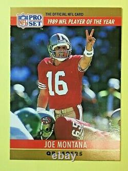 Joe Montana #2-1990 Pro Set Error card (Jim Kelly 3,521Yards). (Read More Below)