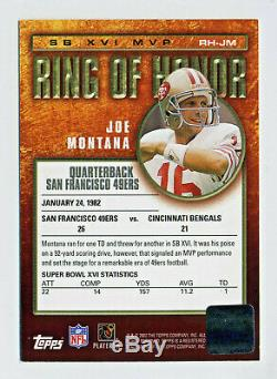 Joe Montana 2002 Topps Ring Of Honor Autograph Auto San Francisco 49ers BV $300