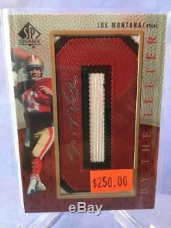 Joe Montana 2007 SP Authentic By The Letter Auto #BTL-JM 49ers