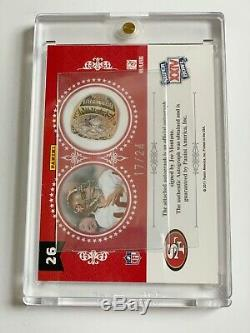 Joe Montana 2010 National Treasures Ring Honor Autograph 49ers Auto Sp #17/24