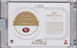Joe Montana 2017 Flawless Retired Numbers Auto 1/1 San Francisco 49ers Gem Mint