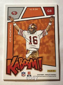 Joe Montana 2019 Absolute KABOOM SSP! Rare! San Francisco 49ers