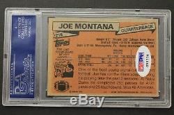 Joe Montana 49'ers 1981 Topps #216 Autographed Rookie Card Signed PSA