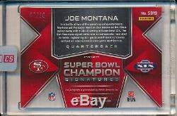 Joe Montana 49ers 2018 Panini Spectra Superbowl Championship Auto Magenta 5/10