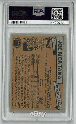 Joe Montana 49ers HOF 1981 Topps Rookie Card (RC) #216- PSA Graded Gem Mint 10