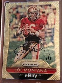 Joe Montana Auto 1/1 Panini Prizm Gold