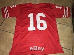 Joe Montana Autographed STAT Football Jersey-JSA Certified-S. F. 49ERS