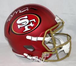 Joe Montana Autographed San Francisco 49ers F/S BLAZE Helmet- JSA W Auth White
