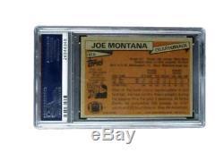 Joe Montana Autographed Signed 1989 Topps Card 49ers PSA/DNA 131743