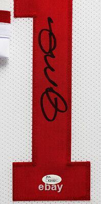 Joe Montana Autographed and Framed White 49ers Jersey JSA COA D10-L