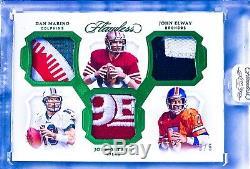 Joe Montana Dan Marino John Elway 2019 Flawless 5/5 49ers Broncos Dolphins