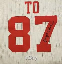 Joe Montana & Dwight Clark AUTOGRAPHED The Catch Jersey, 49ERS, with Beckett COA