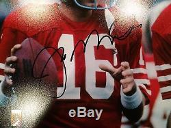 Joe Montana & Dwight Clark Dual Autographed SF 49ers 16x20 Photo Witness JSA