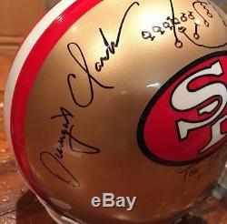 Joe Montana & Dwight Clark Dual Signed SF 49ers Authentic Helmet The Catch JSA