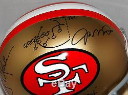 Joe Montana Dwight Clark Signed F/S San Francisco 49ers TB Helmet- JSA W Auth