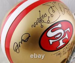Joe Montana/Dwight Clark Signed SF 49ers F/S Authentic Helmet- Beckett Auth