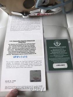 Joe Montana Jerry Rice Autograph UDA #59/149 Full Size Helmet Upper Deck